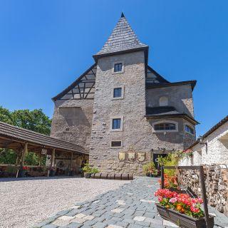 Hrad Vildštejn - Nádvoří hradu