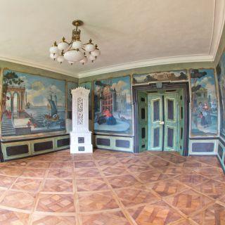 Zámek Mitrowicz - Hlavní zámecký sál a salónky
