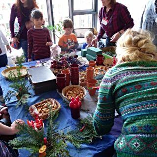 MOBILNÍ KREATIVNÍ VÝTVARNÉ DÍLNY - Vánoční vazby z přírodnin