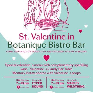 Svatý Valentýnský víkend v Botanique Bistro & Bar