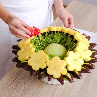 Frutiko - ovocné kytice - Workshop výroby ovocných kytic