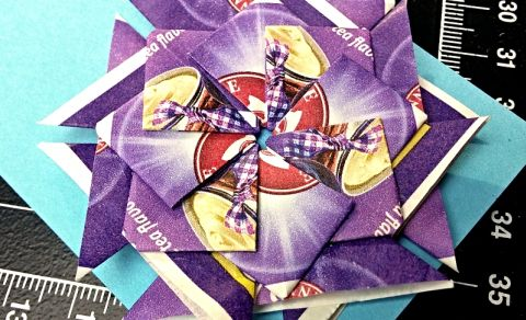 Tea bag folding – vyrábění z čajových sáčků