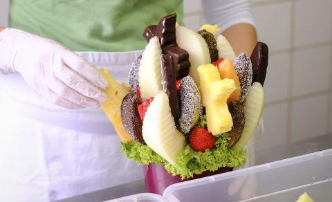 Workshop výroby ovocných kytic
