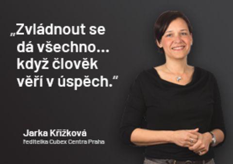 """""""Zvládnout se dá všechno… když člověk věří v úspěch,"""" říká ředitelka Cubex Centra Praha."""