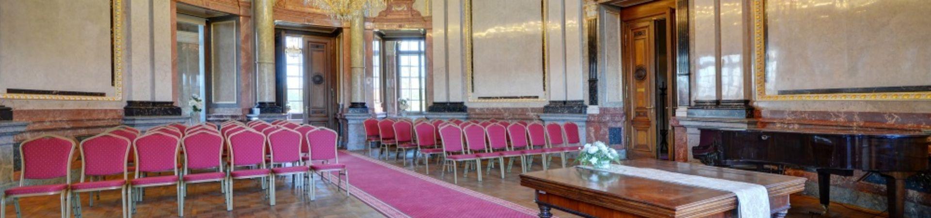 Zámek Liblice, konferenční centrum AV ČR - Mramorový sál