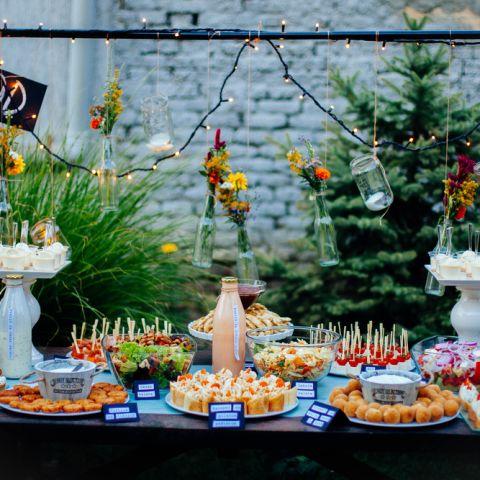 Občerstvení na oslavu